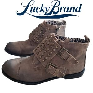 LUCKY BRAND Dosey studded flat booties